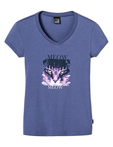 Schiesser Mädchen Schlafanzugoberteil Shirt 1/2 Mix & Relax, V-Ausschnitt, Gr. 152, Blau (blau 800)