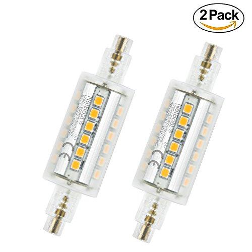 Lampadina LED R7s 78 mm, 5 W LED faretto luce bianco caldo 3000 K, 500LM, non dimmerabile R7s lampadine a risparmio energetico, forma cilindrica ,2 pezzi