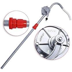 Pompe de transfert rotatif, pompe à tambour manuelle baril, manivelle huile aluminium alliage pompe à carburant essence pour essence produit