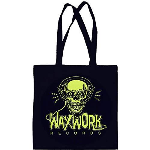 Waxwork Nero//Rosso Records tela LP DISCO Tote Bag Waxwork LOGO NUOVO