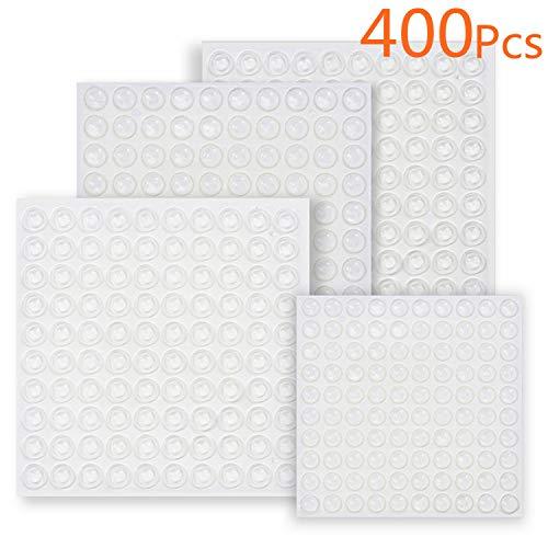 Almohadillas goma adhesivas transparentes puertas