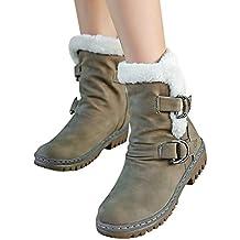MYMYG Botas de Nieve para Mujer Black Friday Botas de Nieve Mujer Botines de Mujer Zapatos