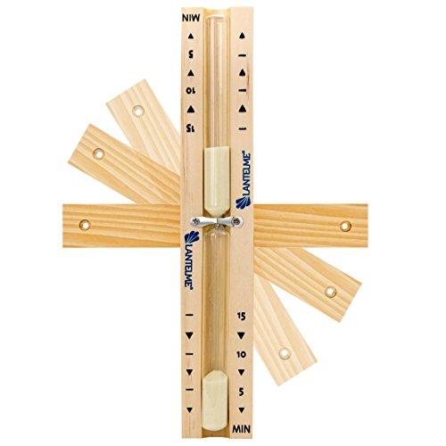Sauna Sanduhr Analog Holz Buche 15 Minuten , drehbar