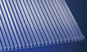 Polycarbonat Stegplatten Hohlkammerplatten klar 5000 x 1050 x 10 mm