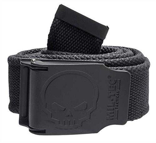 Cinturón Calavera 40mm, color negro, tamaño 130