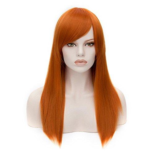 zebeständig Lolita Mode Harajuku Cosplay Wig Perücke + Perücke-Kappe (Orange) (Orange Kostüm Perücke)