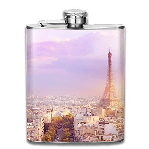 Sdltkhy Sunset Eiffel Tower and Paris City View Form Triumph Arc Eiffel Tower from Champ De Mars Paris 304 Stainless Steel Flask 7oz