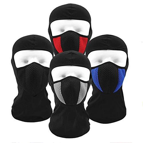 HJKH Schutzmaske Atmungsaktive Baumwolle Winddichtes Balaclava Winter warm Full Face Ski Mask (Farbe : Weiß, Größe : Einheitsgröße)