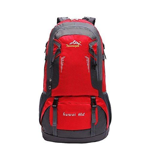 Sac à dos étanche outdoor recreational sport pour hommes et femmes sacs à bandoulière Sac à dos pour ordinateur portable de voyage à pied 60L
