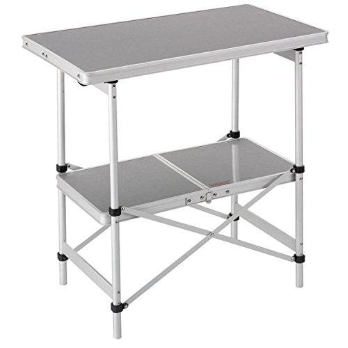 Brunner, tavolo pieghevole da campeggio a 2 ripiani, standard