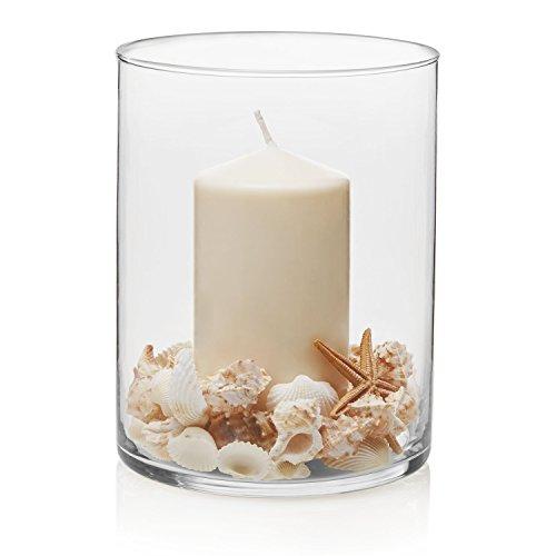 Libbey Zylinder Vase, 8x 6.12-inch, transparent, Set von 2 Libbey Vasen
