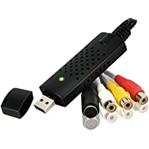 Rybozen Convertidor de audio/video USB 2.0 Digitalice y edite video desde cualquier fuente analógica