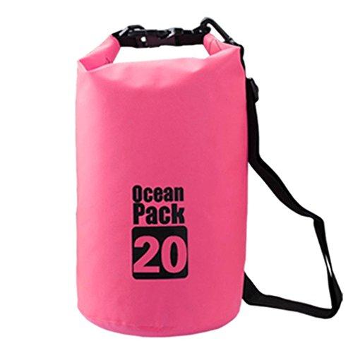 Gaosa Sac Étanche Imperméable Randonnée Sac de Rangement Outdoor Sport De Plein-Air Dry Bag Rose