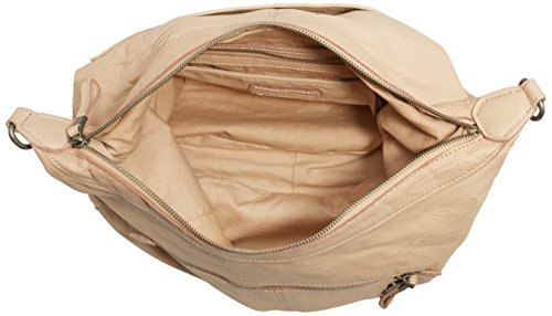 Liebeskind Pazia Sac à main porté épaule cuir 47 cm beige