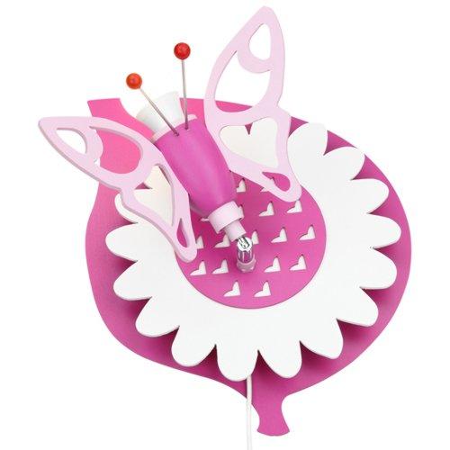 Elobra Kinder Lampe Wandlampe Falter Kinderzimmer Holz,rosa 122853