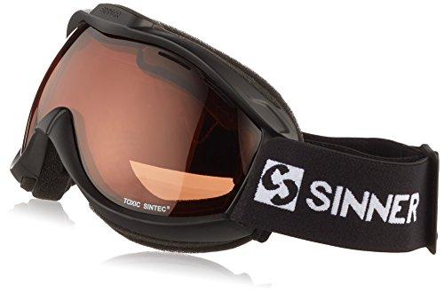 SINNER Erwachsene Toxic Skibrille mit Belüfteten Sintec Polarisierte Doppelscheibe Matte Black
