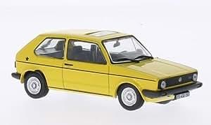 VW Golf JGL, jaune, 0, voiture miniature, Miniature déjà montée, SpecialC.-75 1:43