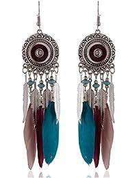 Earrings For Girls Fancy Party Wear Silver Alloy Dangle & Drop Earrings For Women (ER38bhoslvlfmhr)