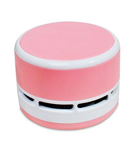 Hillento mini aspirapolvere, portatile tenuto in mano corless pulizia tavolo briciola spazzatrice tavolo multifunzione per ufficio tastiera casa e auto, rosa