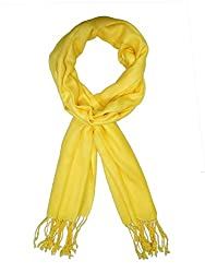 URBAN-TRENDZ Latest Collection of Viscose Pashmina Scarf Stole Duppatta Shawl with twisted fringes in Superfine Quality (Summer Colours) UT2258Y