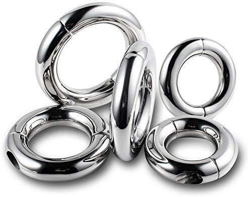 SDjjyp Ultra-Edelstahl-Ring-Lock-Armbanduhr, Sport Last Trainingsring - verbessert Herren-Fähigkeit und Haltbarkeit (3 Größen: 40,45,50mm) -