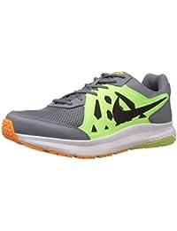 Nike Men's Dart 11 MSL Grey, Lime Green, Black and White Running Shoes -10 UK/India (45 EU)(11 US)