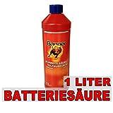 Banner Batteriesäure Akkusäure Batterie Säure Schwefelsäure 1L für Auto- Motorradbatterie
