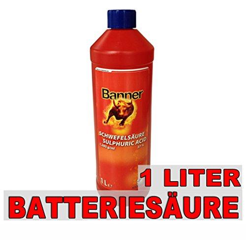 Banner Batteriesäure Akkusäure Batterie Säure Schwefelsäure 1L für Auto- Motorradbatterie -
