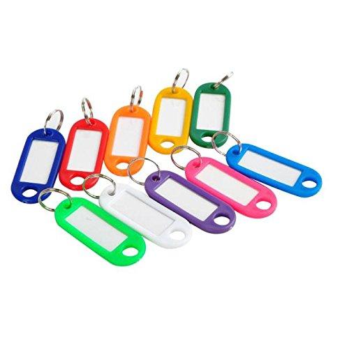 MOIKA 100 Porte-clés avec étiquette Changeable en Couleurs Mixtes - porte - clés d'identification Bagages Porte-clés Voyage Etiqettes à Bagages en Plastiqu