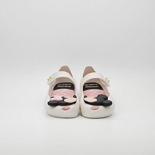 MINI MELISSA -Ballerina bianca in plastica MELFLEX, gomma profumata, di Topolino e Minnie , scarpa Disney, Bambina-27