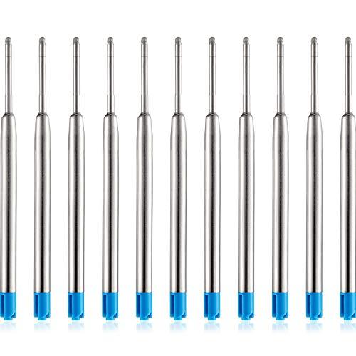 30 Packung Ersatz Kugelschreiber Refills Metall Nachfüllung Glatte Schreiben Kugelschreiber Nachfüllung (Blau)