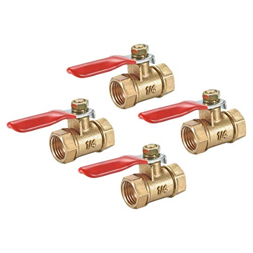 ZCHXD Brass Air Ball Valve Shut Off Switch 1/4