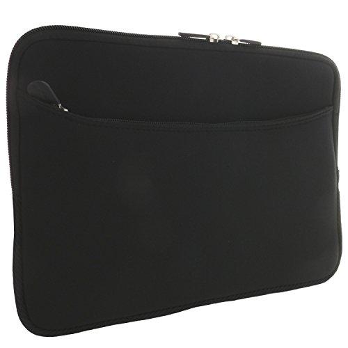 XiRRiX Laptoptasche 15 Zoll (38,1 cm) / 15,6 Zoll (39,6cm) Notebook Laptop Schutzhülle - universal Neopren Notebooktasche schwarz