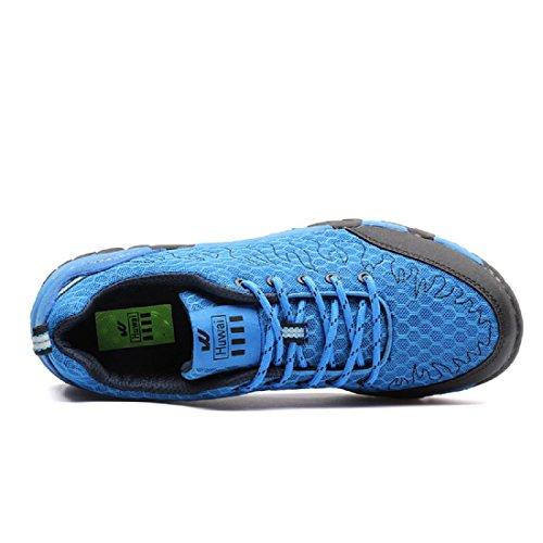 Herren Sportschuhe Mode Atmungsaktiv Rutschfest Ausbildung Laufschuhe Blue