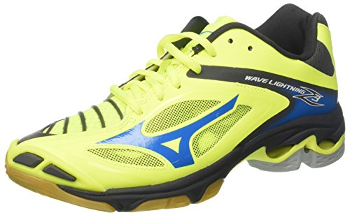 Mizuno Wave Lightning Z3, Scarpe Indoor Multisport Uomo, (SafetyYellow/atomicblue/Darkshadow), 44.5 EU