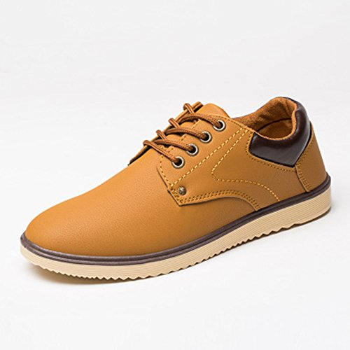 spritech (TM) Herren Fashion British Komfort rutschfeste Schuhe Schuh flach Martin Stiefel, camel, US:10 -