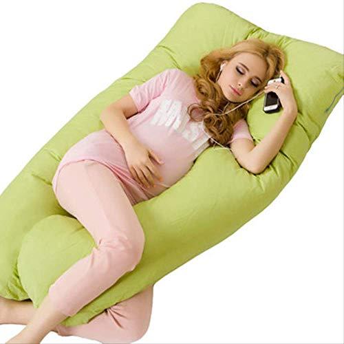leihao888 130 * 70CM U Schwangerschaft Bequeme KissenMutterschaft Gürtel Körper Charakter Schwangerschaft Kissen Frauen schwanger Side Sleepers KissenGrün - Grün Sleeper