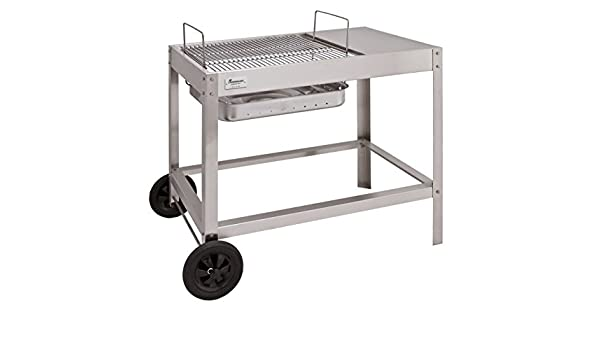 Landmann Holzkohlegrill Collection Nummer 1 : Landmann holzkohlegrill collection nummer 1 grillwagen silber