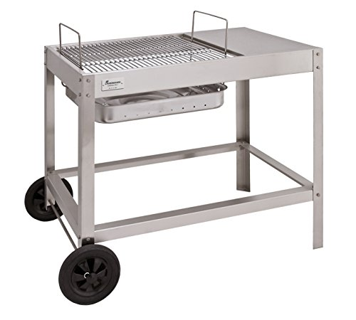 Landmann Barbecue a carbonella Collection numero 1 carrello per barbecue, argento
