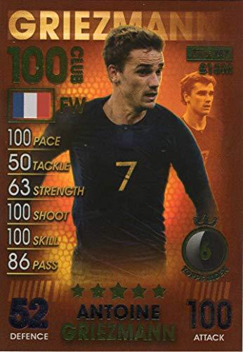 Match Attax 101 Antoine Griezmann 100 Club Trading-Karte - Frankreich