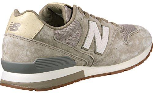 New Balance Herren Sneakers Beige (120) 42EU (Leder Schuhe Männer Casual)