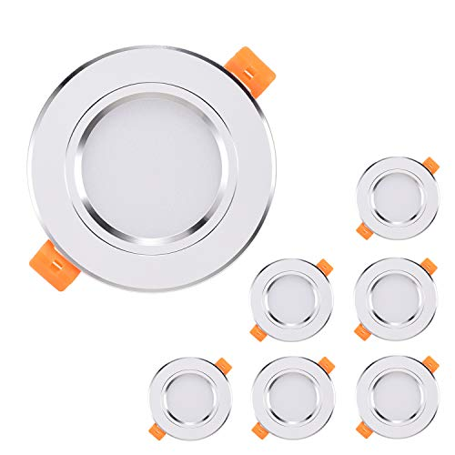 Downlights LED Blanco Kimjo, 6 x 7W Focos LED Empotrables Blanco Frío...