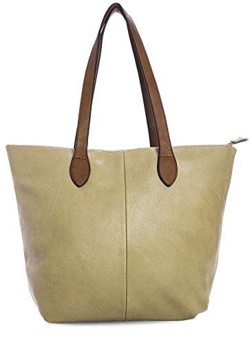 BHBS Damen Promi Einfache weiche und leichte Schulter Handtasche 38 x 28 cm (B x H) Karamell