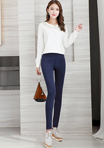 YiLianDa Pantaloni Scarni Skinny Jeans Donna Autunno Leggings a Vita Alta come immagine1