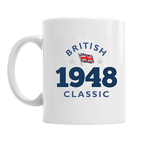 70th Birthday Gift British Classic Gifts For Men Women 1948 Coffee Mug
