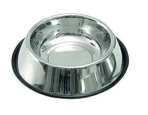 Kerbl Gamelle pour chien en acier inoxydable antidérapant avec anneau en caoutchouc
