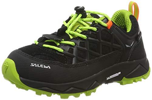 Salewa Unisex-Kinder JR Wildfire WP Trekking- & Wanderhalbschuhe, Schwarz (Black Out/Cactus 986), 34 EU