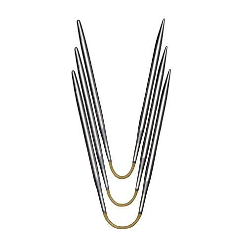 addi Crasy Trio Rundstricknadel 21 cm Stärke 3,5 mm, Metall, Hochglänzend -