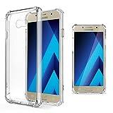 Moozy Coque Silicone Transparente pour Samsung A5 2017 - Anti Choc Crystal Clear Case...
