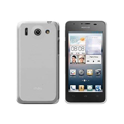 Custodia FIT in silicone rigido trasparente per Huawei Ascend G510, Bianco